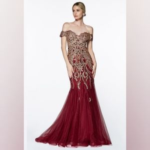 Dresses & Skirts - Burgundy prom dress party special occasions mother